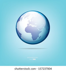 World map symbol.