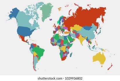 Australia new zealand map vector stock vectors images vector art world map vector gumiabroncs Choice Image