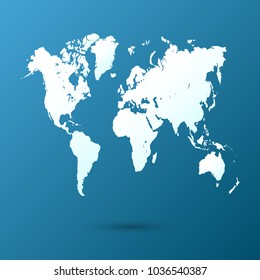 World map flat images stock photos vectors shutterstock world map vector gumiabroncs Gallery