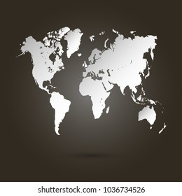 World map images stock photos vectors shutterstock world map vector gumiabroncs Images
