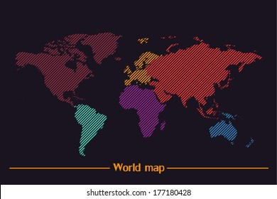 Coreldraw images stock photos vectors shutterstock world map vector gumiabroncs Gallery