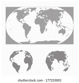 world map in a vector