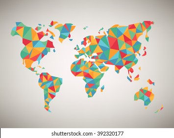 Cool World Map Stock Vectors Images Vector Art Shutterstock