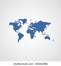 world map vector icon
