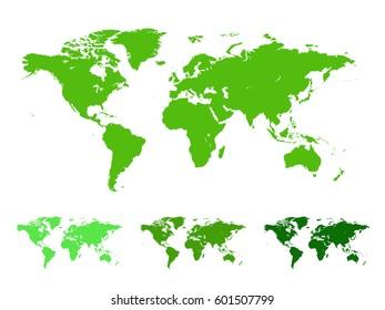 Green 3 D Vector World Globe Collection Stock Vector (Royalty Free ...