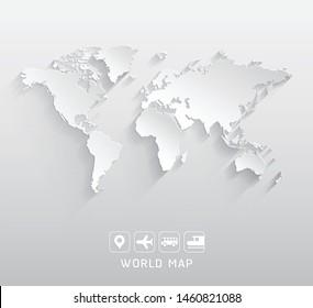 World map vector illustrations background.