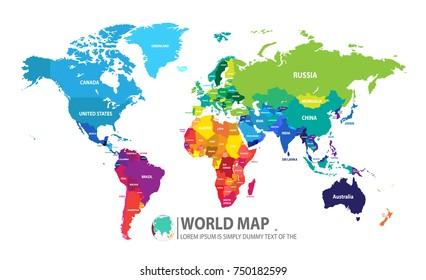 World map vector illustrator