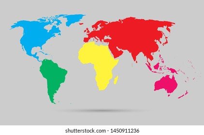 A Picture Of The World Map.Continent Images Stock Photos Vectors Shutterstock