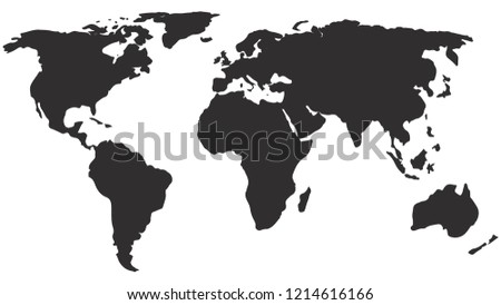 world map vector isolated on white stock vector royalty free