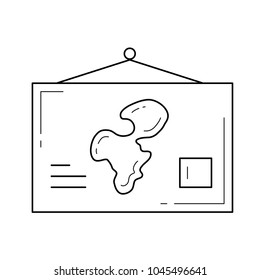 School wall map images stock photos vectors shutterstock world map vector line icon isolated on white background school world map hanging on the gumiabroncs Images