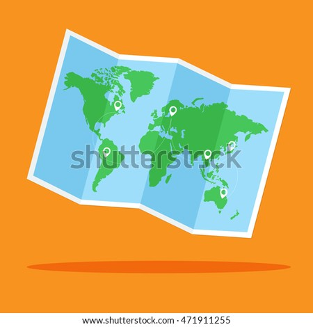 World map vector location point flat stock vector royalty free world map vector with location point flat design for business financial marketing banking advertisement commercial gumiabroncs