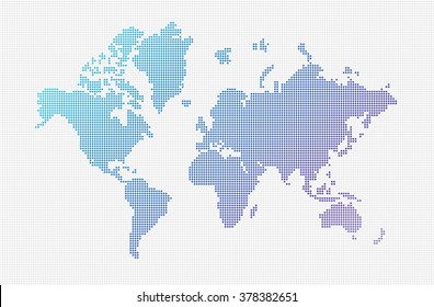 World map vector small dots objects stock vector royalty free world map vector small dots objects gumiabroncs Choice Image