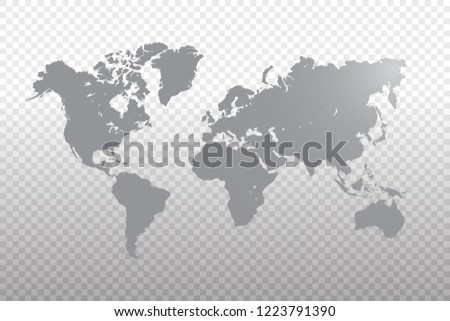 World Map Vector Template Gray Color Stock Vector Royalty Free