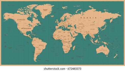 Ilustraciones Imagenes Y Vectores De Stock Sobre Mapa Planisferio