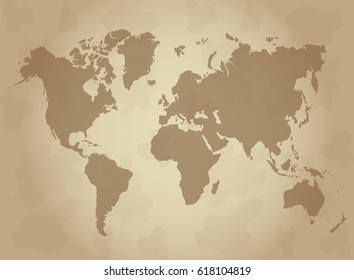 Vintage world map images stock photos vectors shutterstock world map vintage vector gumiabroncs Choice Image