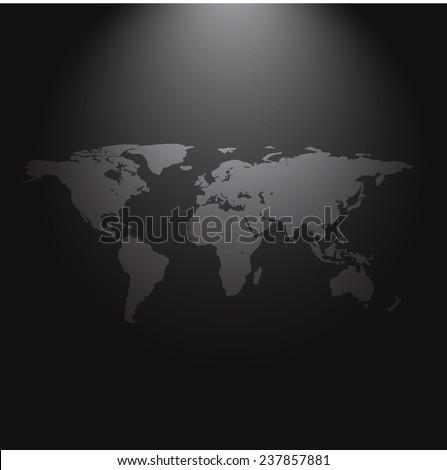 World Map Wallpaper Dark Modern Room Stock Vector Royalty Free