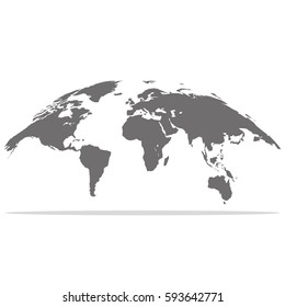 World map for web design.