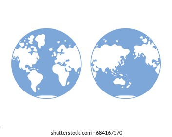 Western hemisphere images stock photos vectors shutterstock world map western and eastern globe hemisphere flat vector gumiabroncs Choice Image