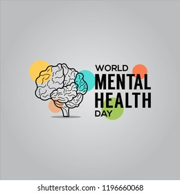 world mental health day design template