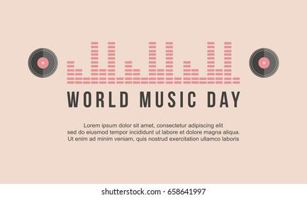 World music day celebration banner