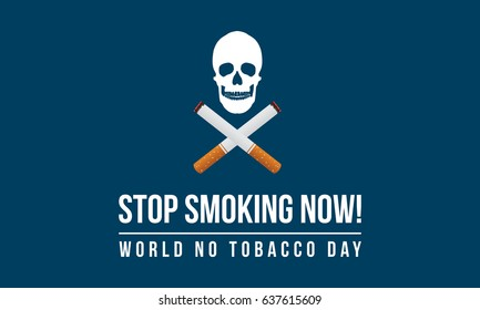 World no tobacco day banner style