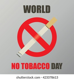 World no tobacco day flat design vector illustration 31 May