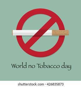 World no tobacco day, flat design vector illustration 31 May,eps10