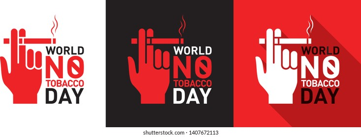 World No Tobacco Day Logo, Unit, Mnemonic, Poster, Banner. 31st May. Stop Tobacco - Vector, Illustration