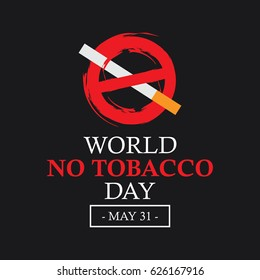 World No Tobacco Day Logo Vector Template