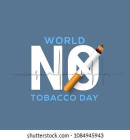 World No Tobacco Day Poster Or Banner Background.