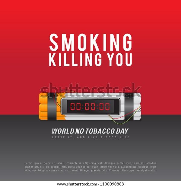 World No Tobacco Day Slogan Smoking Stock Vector (Royalty