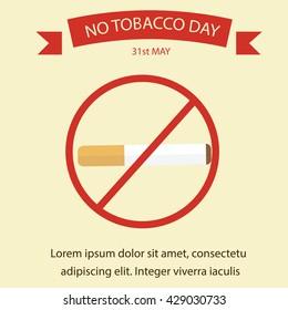 World No Tobacco Day. No Smoking campaign poster template.