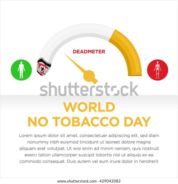 World No Tobacco Day No Smoking Stock Vector (Royalty Free