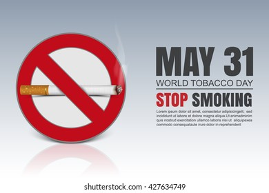 World No Tobacco Day, vector