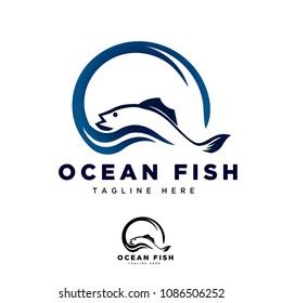 World ocean fish logo