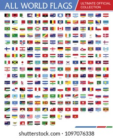 World Official Flags Ultimate Collection Vector Set EPS 10