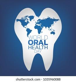 World Oral Health Day logo icon design, vector illustration