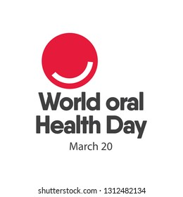 World Oral Health Day Logo Vector Template Design Illustration