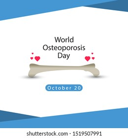 World Osteoporosis Day design template.