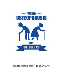 World Osteoporosis Day design vector