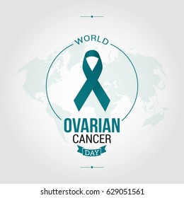 World Ovarian Cancer Day Vector Illustration. Suitable for Greeting card, Poster and Banner.