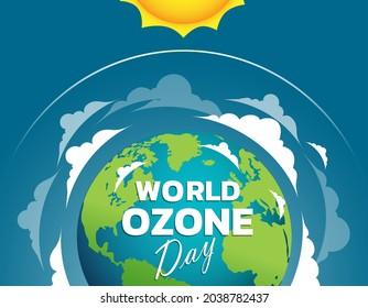 World Ozone Day 16 September Vector illustration for Poster, banner Design.