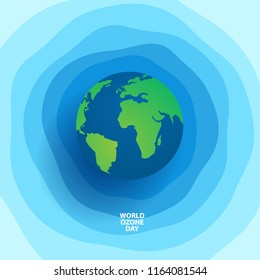 world ozone day concept design with globe