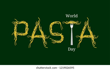 World Pasta Day. Event name. Pasta Word - Pasta and Fork