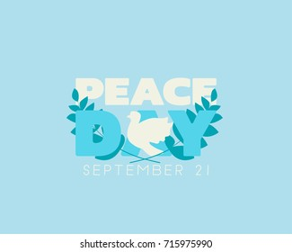 World Peace Day banner with dove