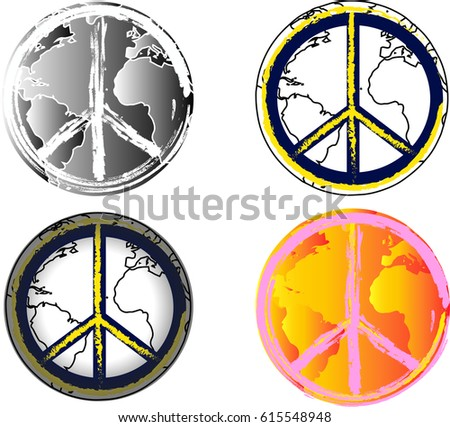 World Peace Vector Icons Universal Sign Stock Vector Royalty Free