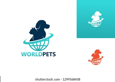 World Pets Logo Template Design Vector, Emblem, Design Concept, Creative Symbol, Icon