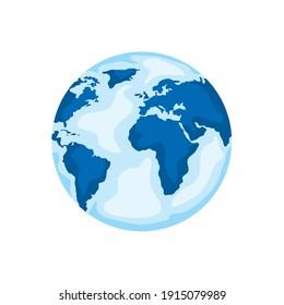 world planet earth ecology icon vector illustration design