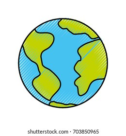 world planet isolated icon