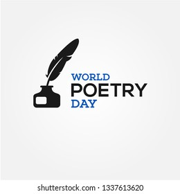 world poetry day vector design